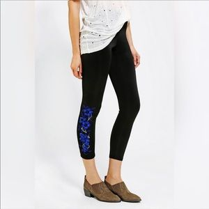 NEW SILENCE & NOISE / EMBROIDERED LEGGING PANTS